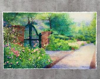 Ashland Estate South Garden Gate Original Watercolor