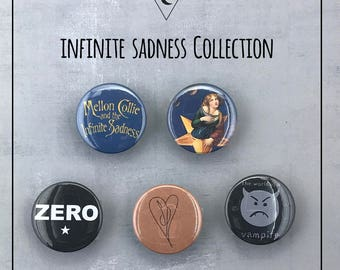 "Smashing Pumpkins ""Mellon Collie and The Infinite Sadness"" Pinback Buttons - 1"" & 1.5"" Sizes Available!"