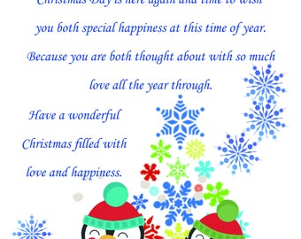 Daughter & Fiance Christmas Card cute