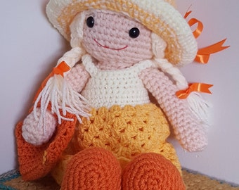 Sunny Samantha crochet doll