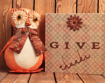 Give Thanks,Thanksgiving Decoration,Fall Decorations,Framed Wall Art,Winter Decorations,Christmas Wood Signs,Christmas Sign,Holiday Decor