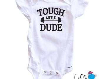 Crossfit Onesie - Tough Little Baby - Crossfit Babies - Baby Onesie - Crossfit Mom - Tough Little Dude - Tough Little Mama - WOD