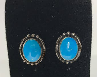 1970's Vintage | GENUINE | Turquoise Earrings