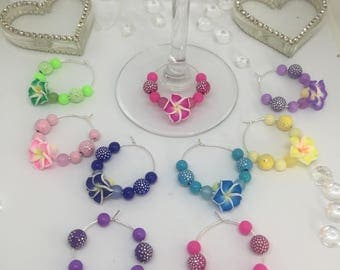 Wine Glass Charms - Flowers