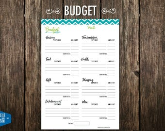 Budget Planner, Budget, Monthly Budget, Budget Printable, Financial Planner, Organizer, Planners and Organizers, Wanderlust,  US Letter, A5