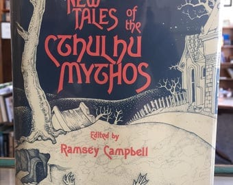 1980, New Tales of the Cthulhu Mythos, First Edition Vintage Book