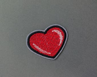 Red heart patch Iron on Patch
