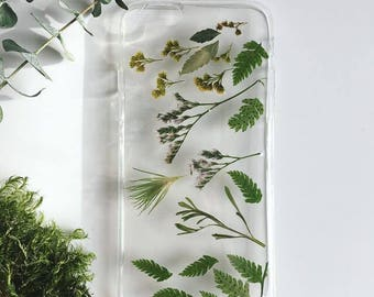 Pressed Plants Phone Case, Meadow Plants Phone Case, Real Plant Phone Case, Iphone X case, Iphone 8 case, Samsung Galaxy S8 case, Phone Case