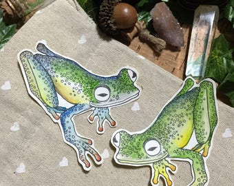Scrapbook Embellishment Stickers - Set of 2 Frogs