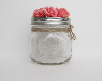 Pink Floral Lid Jar