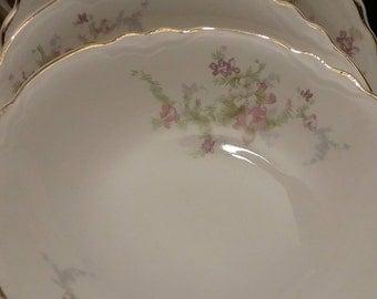 1950s WS George Salad Bowls- Three Bowls- Radisson Pattern
