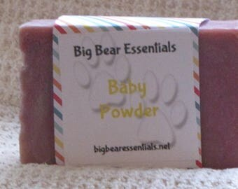 Baby Powder Scented Handmade Soap