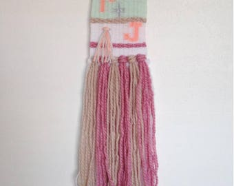 Customised woven gift, woven wall hanging, weaving