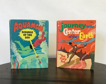 1968 Aquaman + Journey to the Center of the Earth by Paul S. Newman | Big Little Books | Comic Books | Children's Books