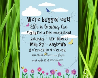 Buggin' Out Birthday Party Invitation - Custom Invitation - Printable Invitation