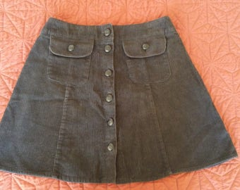 90s Corduroy Miniskirt - Small