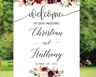 Wedding welcome sign, Welcome wedding sign, Poster wedding sign, Wedding sign template, Weddings Sign, Wedding welcome sign bags 02