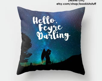 Feysand Pillow, ACOWAR Throw Pillow, A Court of Mist and Fury Pillow, Bookish Pillow, Bookish Pillow Covers