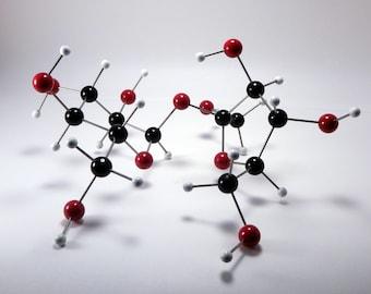 Molecular model, handmade - Sucrose (sugar) - science art decor - chemical structure - mid-century modern sculpture - geometric - baking