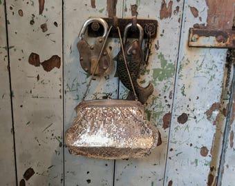 Vintage silver Oroton Glomesh purse bag clutch