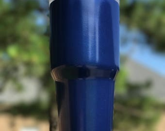 Pearl Blue Powder Coated Yeti/Insulated Tumbler/Powder Coat/Blue Yeti/Birthday Gift/Glitter Yeti/Custom Yeti/Yeti Cup/Yeti Tumbler