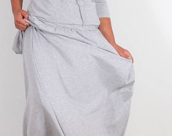 Long dress in gray