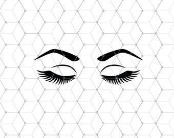 Eyelashes Svg files, Eyebrows svg, Lashes svg file, Make Up svg files