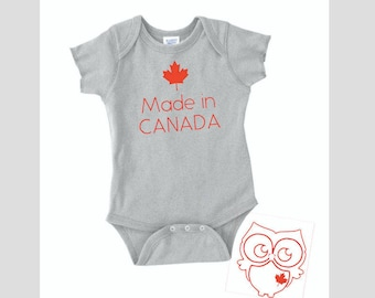 Canadian gift etsy made in canada canada day canada gift for baby baby shower gifts negle Image collections