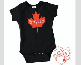 Canada day onesie etsy canada maple leaf with name canada gift for baby baby shower gifts gift negle Choice Image
