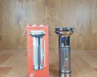 Big flashlight  - Vintage flashlight - Torch with batteries - Hand flashlight - Flashlight - Metal flashlight - Made in CZECHOSLOVACIA