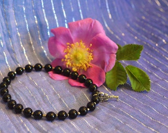 Onyx and Hematite Bracelet