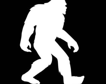 Bigfoot vinyl decal, bigfoot car decal, Sasquatch decal, Yeti decal, Bigfoot window sticker, Bigfoot snowboard decal, Bigfoot sticker