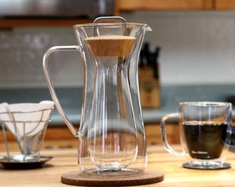 Insulated pour over coffee maker - Hand Made