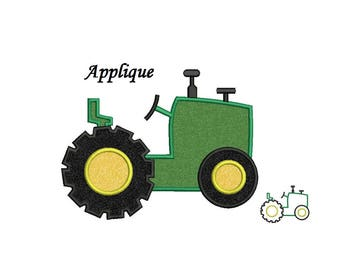 Tractor Applique Design - 4,5,6,7 inch size - machine embroidery - instant download
