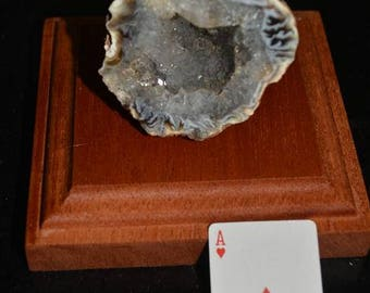 Geode on  Mahogony Stage