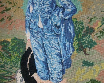 BLUE BOY tapestry petit point sewing