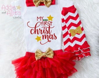 Baby First Christmas Outfit Girl, My First Christmas, Baby First Christmas Outfit, Baby First Christmas Bodysuit, My First Christmas, X7R