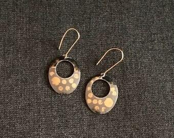 Kuem-Boo Patterned Sterling Silver Mod Earrings
