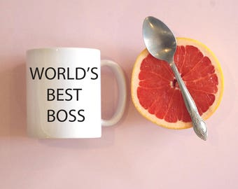 World's Best Boss Coffee Mug, Funny Mug, Funny coffee mug, funny gift, michael scott coffee mug