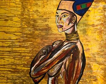 Cleopatra, Acrylic painting.
