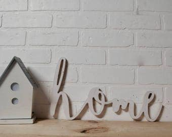 Home Sweet Home Word Wood Cut Out Art Decor
