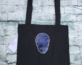 Reuseable Sugar Skull tote bag