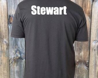 Name on back of shirt