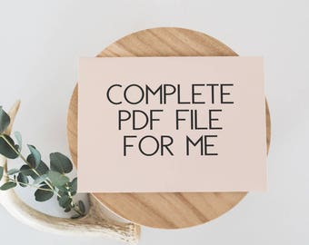 PDF File Completion