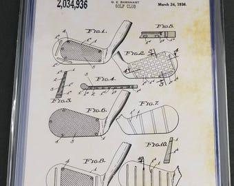 Golf Patent Art Prints Set