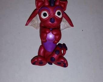 Polymer Clay Dragon w/ Crystal Ball