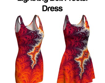 Lightning Bolt Fractal Dress