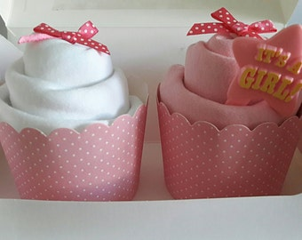 It's a girl baby vest cupcakes