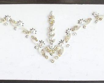 Silver Forehead Bindi Stickers,Festival Forehead Jewels Bindis,India Bindi,Bollywood Bindi, Long Bindis, Face Silver Stickers