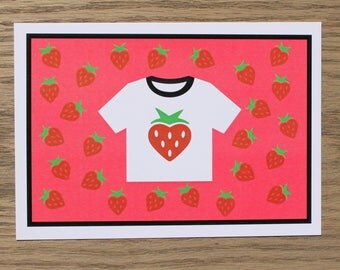 STRAWBERRY TEE card